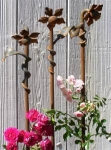Rosenstab Set Three Iron Flowers